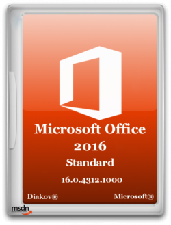 Microsoft Office 2016 Standard 16.0.4312.1000 RePack by D!akov