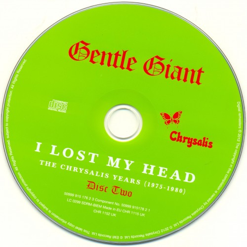 Gentle Giant - I Lost My Head: The Chrysalis Years 1975-1980