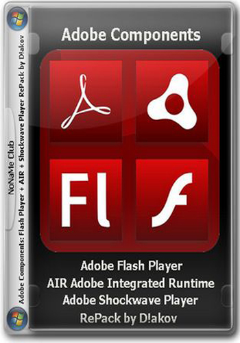 Adobe components: Flash Player 24.0.0.221 + AIR 24.0.0.180 + Shockwave Player 12.2.7.197 RePack by D!akov