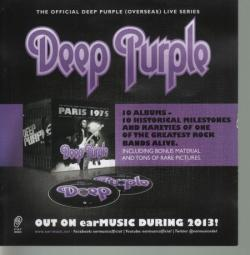 Deep Purple The Official Deep Purple Live Series Paris 1975 , Copenhagen 1972 (4CD)