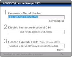 Adobe CS4 License Manager 1.0