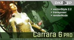 Carrara 6.0 Pro + vector style 2.2 + transposer for Carrara 6, + renderNode for Carrara 6 (2007)