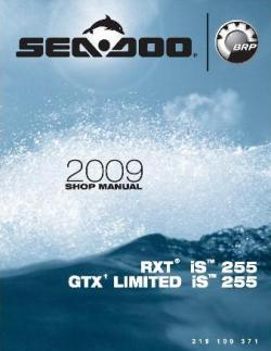 Руководство по ремонту гидроциклов Sea /Shop manual Sea Doo IS 2009