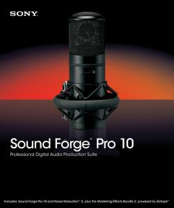 Sony Sound Forge Professional 10.0.474b + RUS