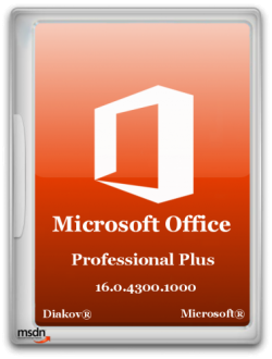 Microsoft Office 2016 Professional Plus 16.0.4300.1000 RePack by D!akov
